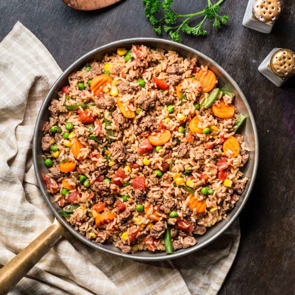 Beefy Rice Skillet | Ready Set Eat - healthy mince recipes