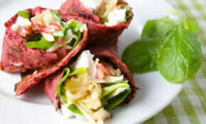 Beetroot And Buckwheat Wrap With Goat's Cheese And Apple ..