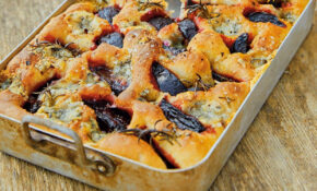 Beetroot, Blue Cheese And Rosemary Focaccia Recipe – Outward Food Recipes