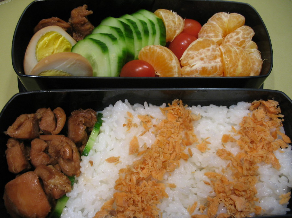 bento 070227 - chicken recipes lunch