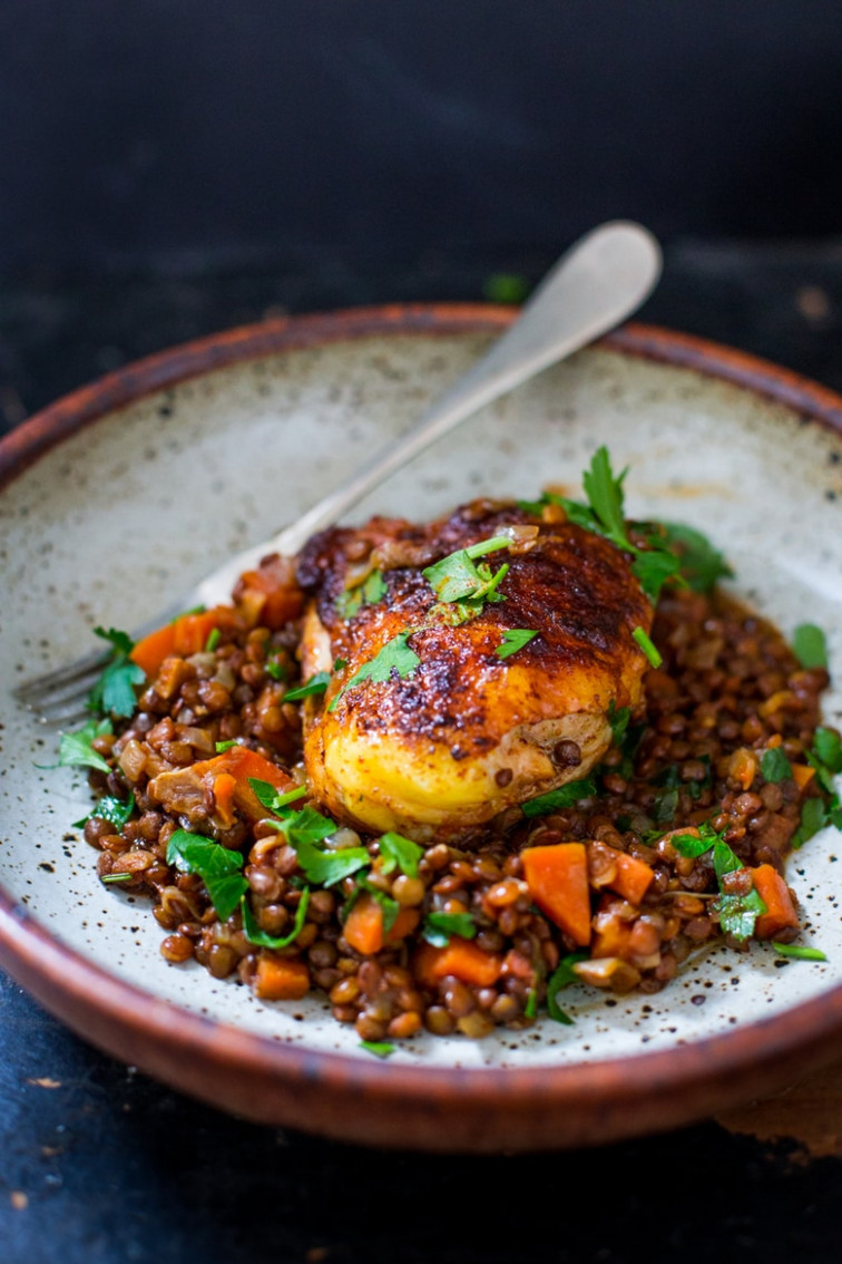 Berbere Chicken With Ethiopian Lentils - Recipes Using Berbere Spice Vegetarian