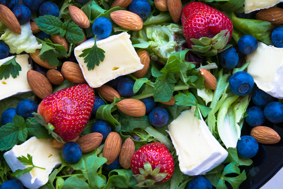 Berry, Brie & Almond Salad - australian food recipes