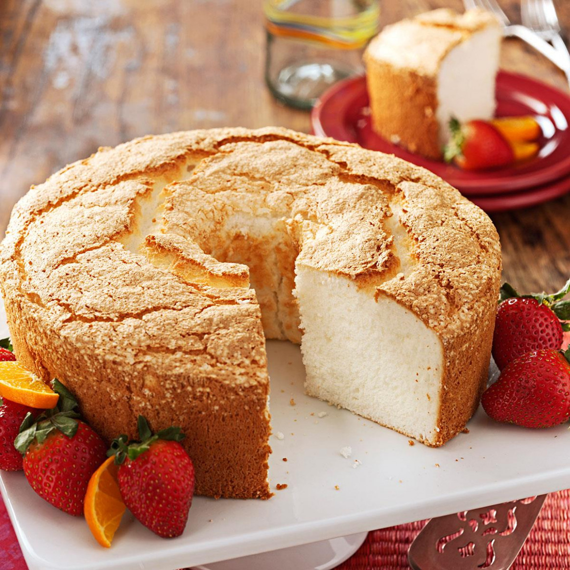 Best Angel Food Cake Recipe | Taste of Home - recipes with angel food cake mix