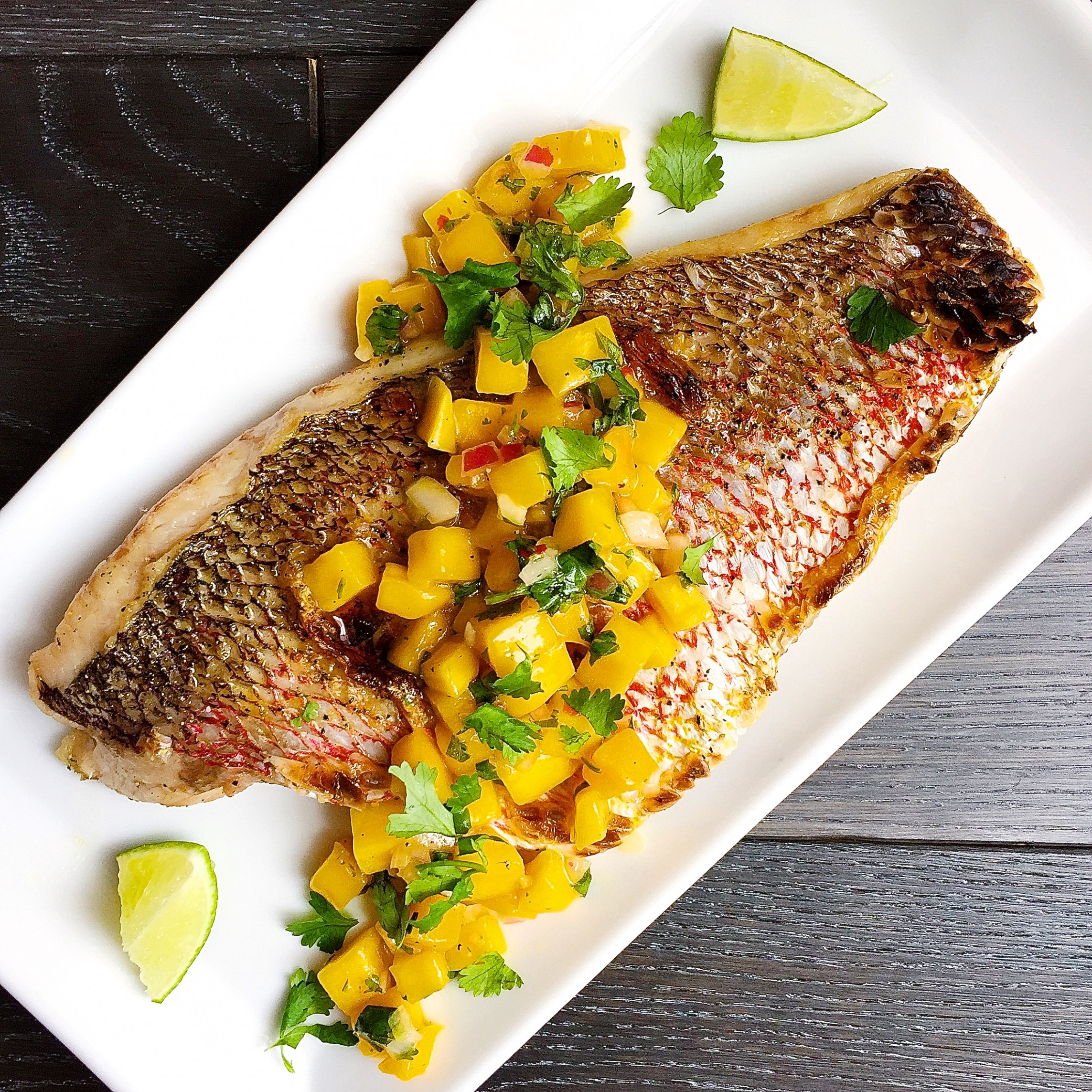 Best Broiled Snapper with Mango Salsa Recipe-How to Make ..
