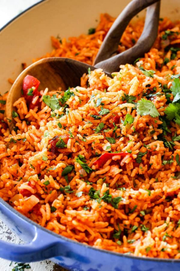 BEST EVER Restaurant-Style Mexican Rice (tips and tricks!) - food recipes with rice