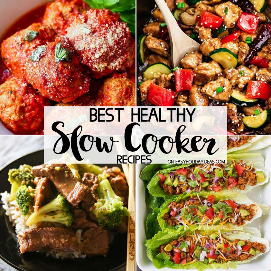 Best Healthy Slow Cooker Recipes - Easy Holiday Ideas - recipes slow cooker healthy