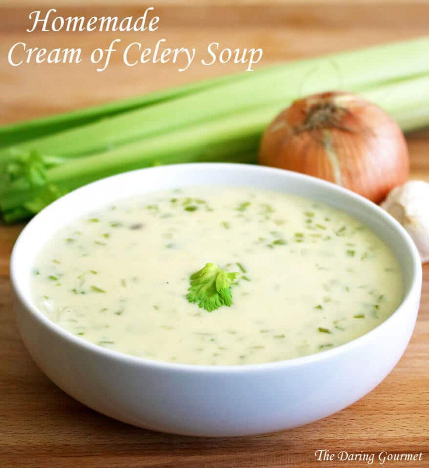 BEST Homemade Cream Of Celery Soup - Recipes Using Condensed Cream Of Chicken Soup