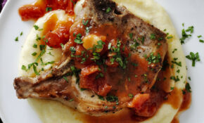 Best Pork Chops And Garlicky Tomatoes With Parmesan ..