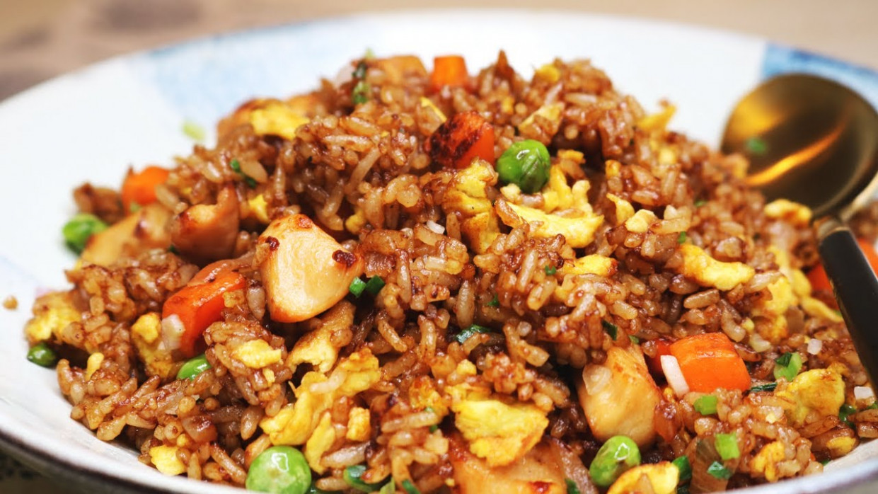BETTER THAN TAKEOUT AND EASY! Chinese Chicken Fried Rice Recipe - Recipes Easy Chinese Food