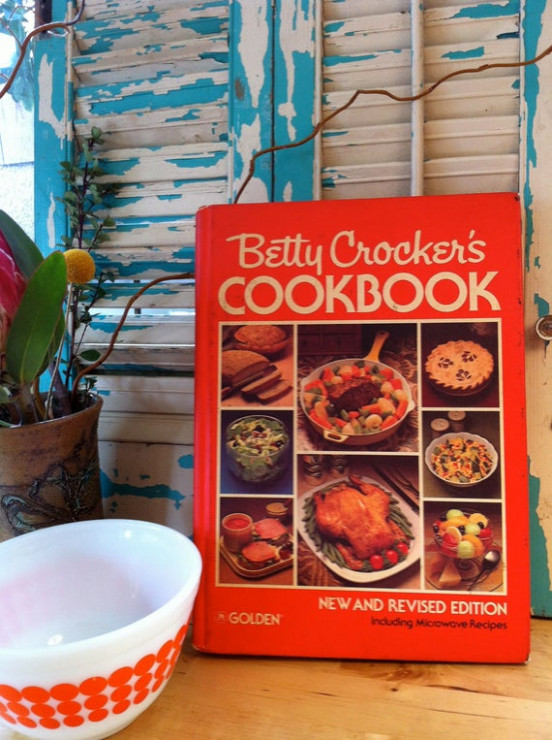 Betty Crocker Cookbook Cook Book Retro by PennyPenguinVintage - dinner recipes betty crocker