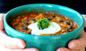 Black Bean, Sweet Potato, And Quinoa Chili With Smoked ..