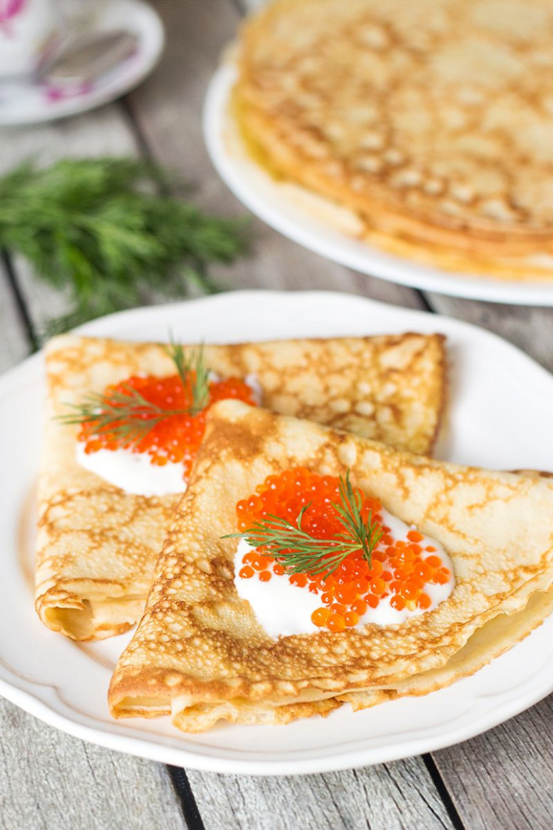 Blini - Traditional Russian Pancakes - russian food recipes