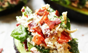 BLT Chicken Salad Stuffed Avocados – Avocado Recipes Chicken