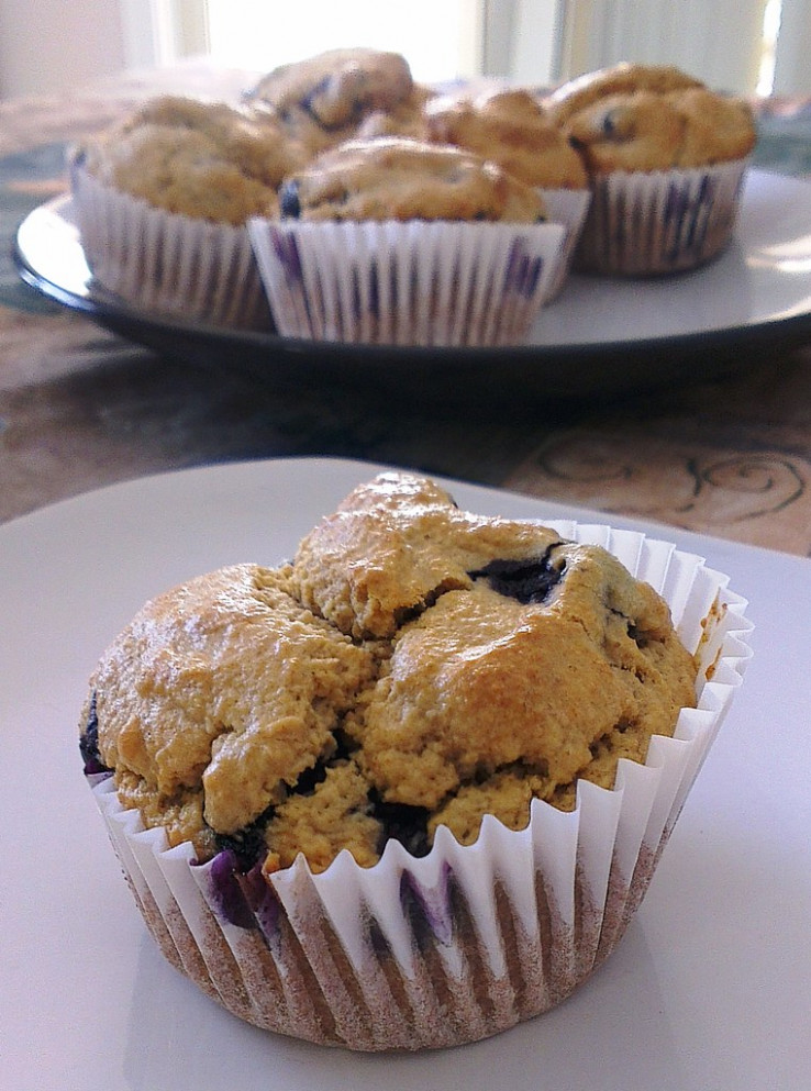 Blueberry muffins- GF, DF and Sugar free - recipes breakfast muffins healthy
