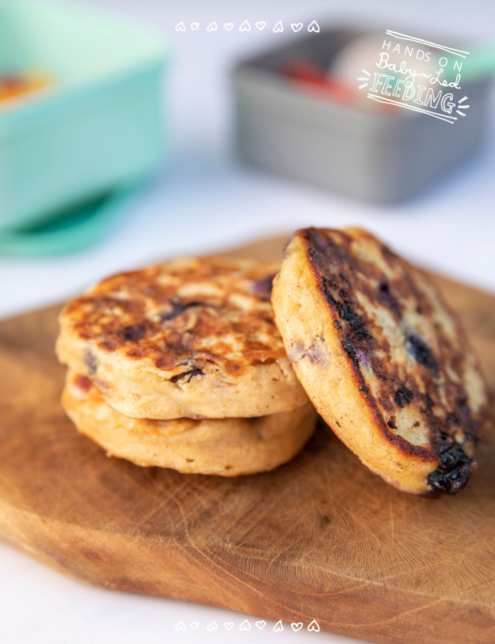 Blueberry Oat Pancakes with Greek Yogurt - recipes pancakes healthy