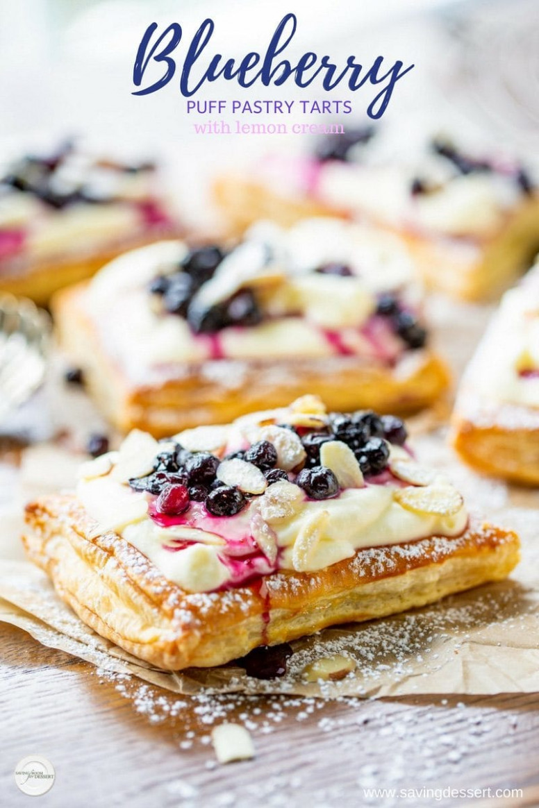 Blueberry Puff Pastry Tarts with Lemon Cream - Saving Room ..