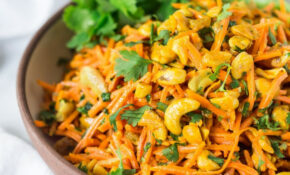 Bombay Carrot Salad With Cashews And Raisins – Healthy Indian Recipes