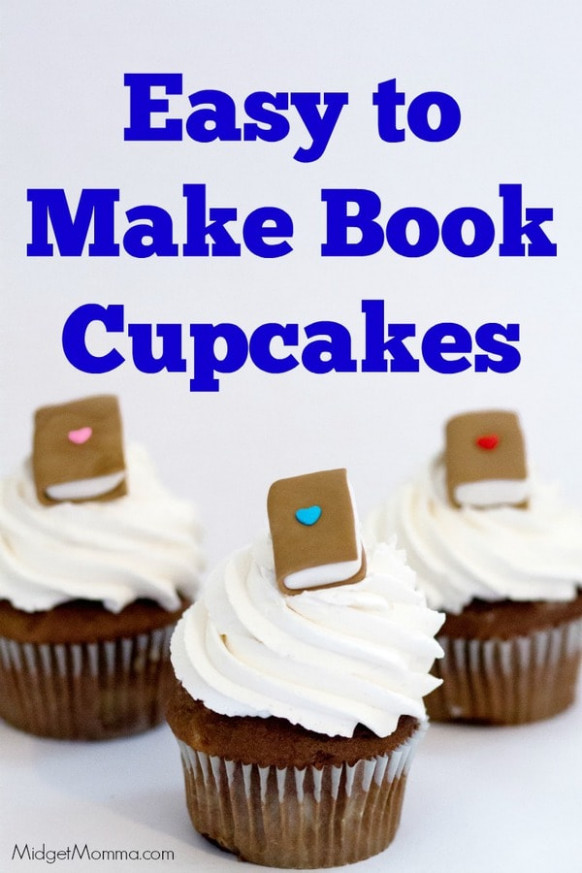 Book Cupcake - Homemade cupcakes with Fondant Books ..