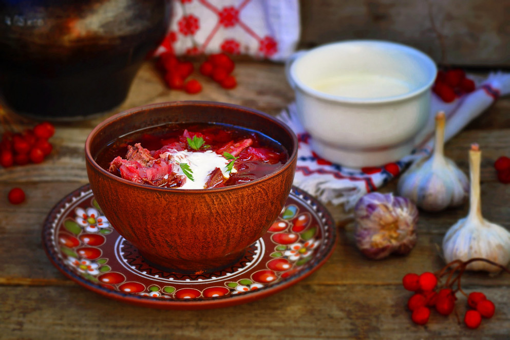 Borsch, Traditional Ukrainian Beet And Sour Cream Soup - Ukrainian Food Recipes