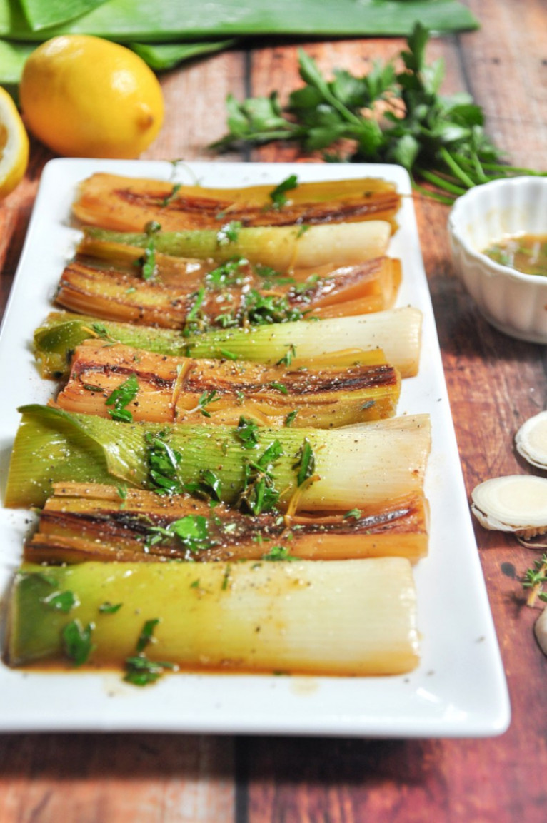 Braised Leeks - StreetSmart Kitchen - Recipes Leeks Vegetarian