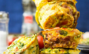 Breakfast Egg Muffins | Healthy & Ready In 25 Mins – No Carb Recipes Vegetarian