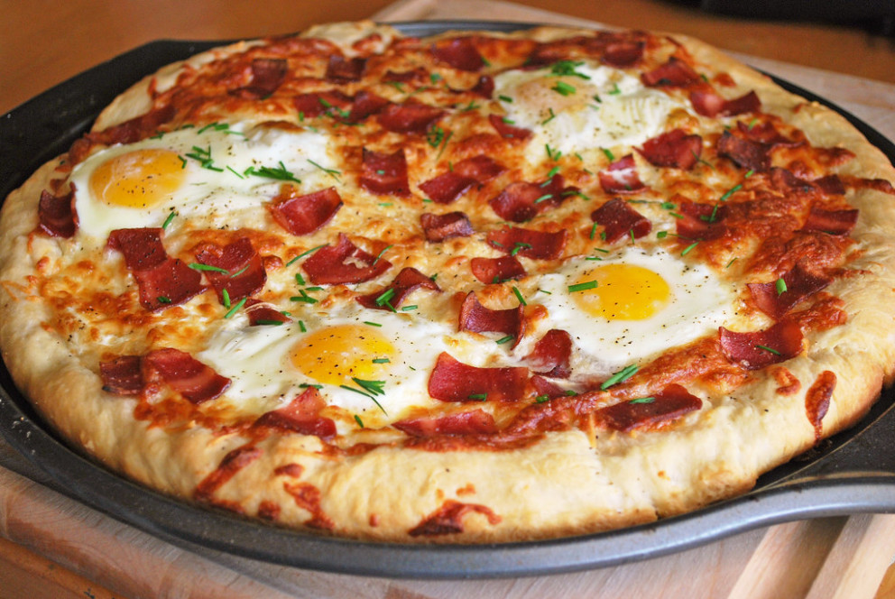Breakfast Pizza - Food Recipes Bacon