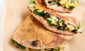 Breakfast Quesadillas With Spinach And Black Beans ..