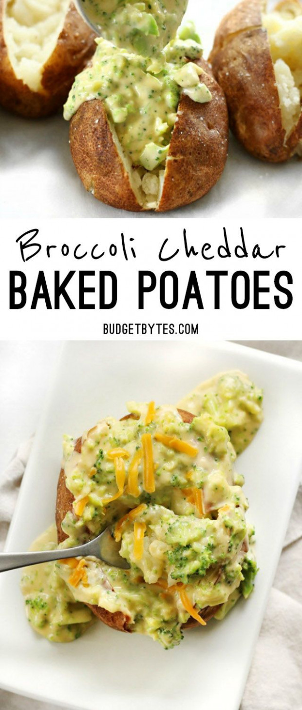 Broccoli Cheddar Baked Potatoes | Recipe | Vegetarianism ..