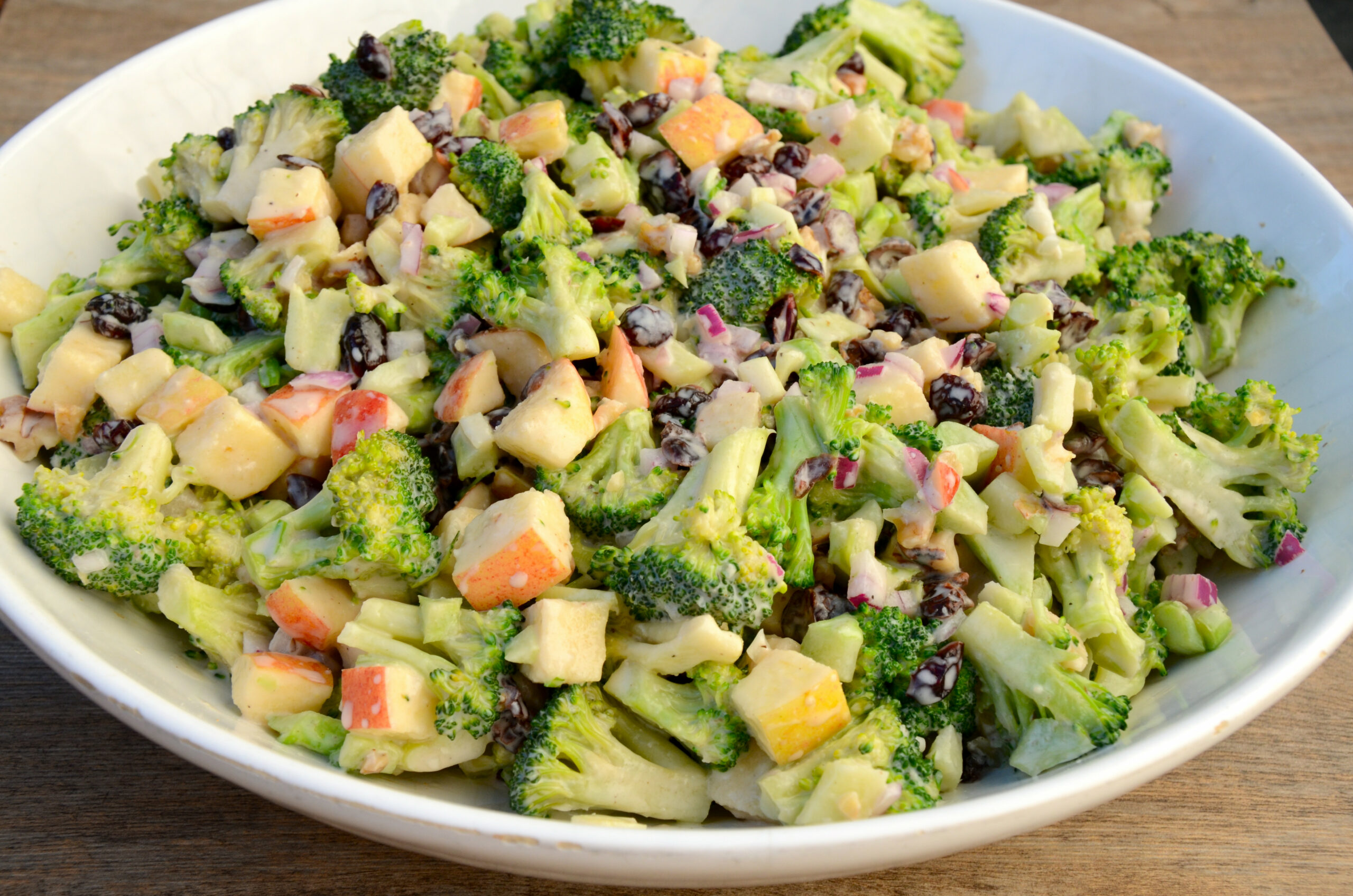 Broccoli Crunch Salad - healthy recipes broccoli