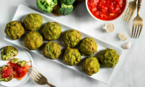 Broccoli Meatballs With Garlic Tomato Sauce – Recipes Vegetarian Garlic