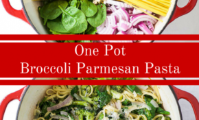 Broccoli Parmesan One Pot Pasta