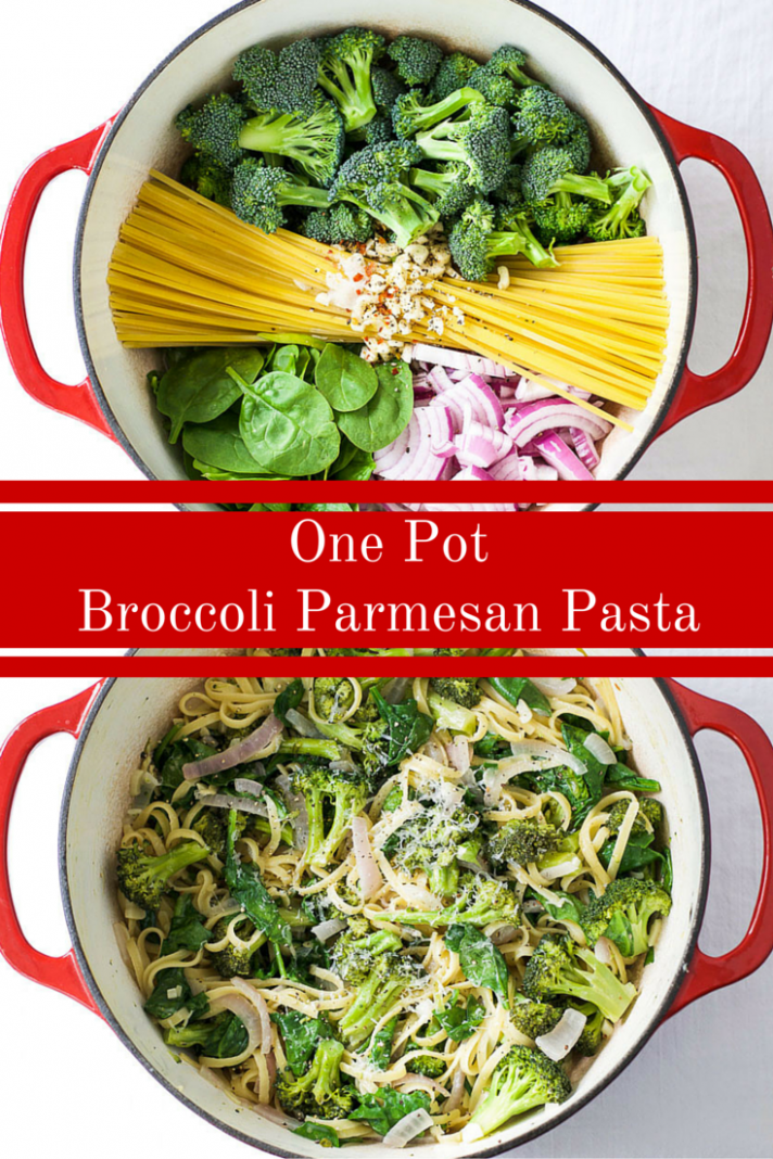 Broccoli Parmesan One Pot Pasta - one pot recipes vegetarian