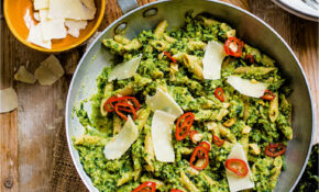 Broccoli Pesto Penne With Chilli And Garlic Sizzle – Healthy Recipes Vegetables