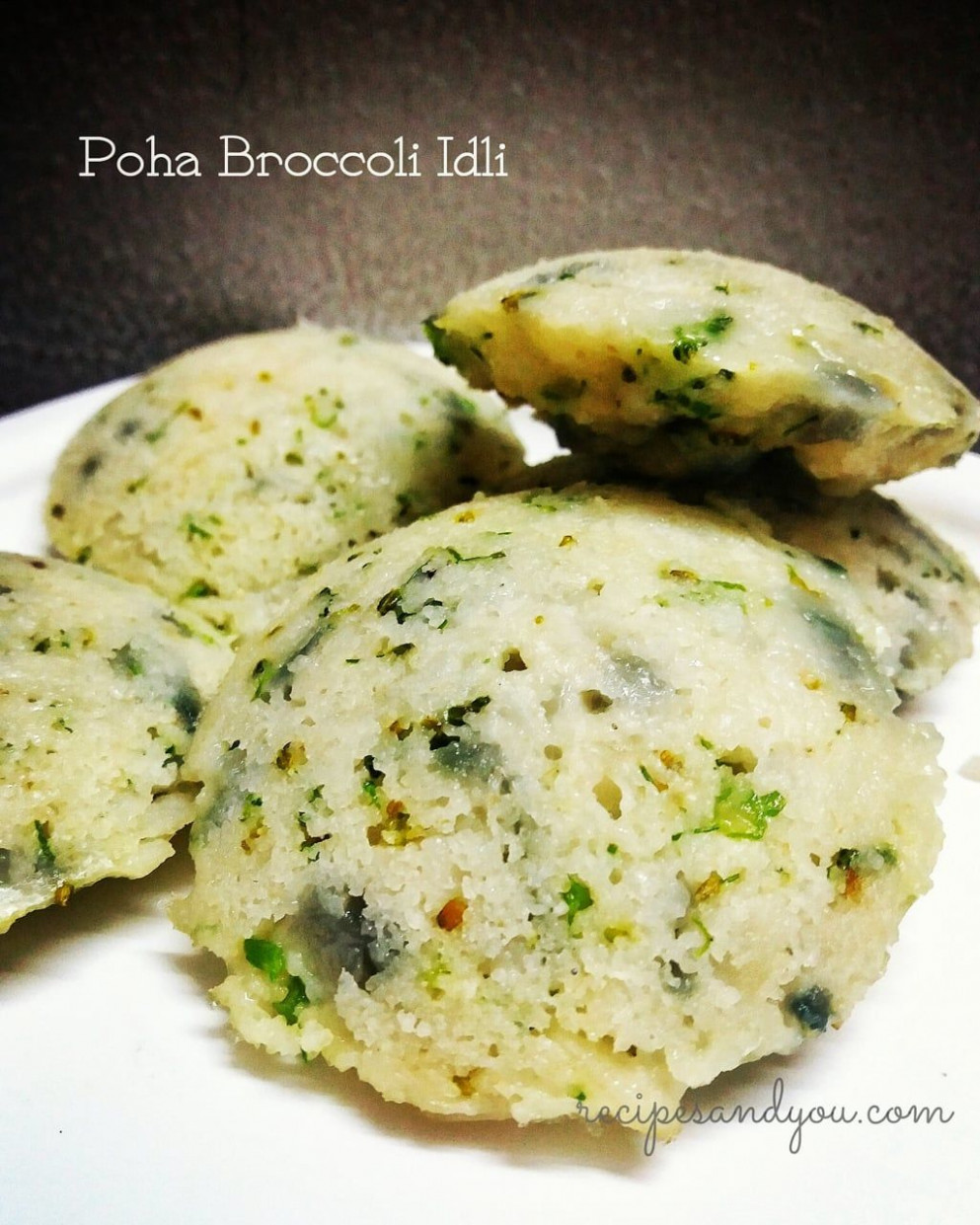 Broccoli Poha /flattened Rice Idli - indian breakfast recipes vegetarian