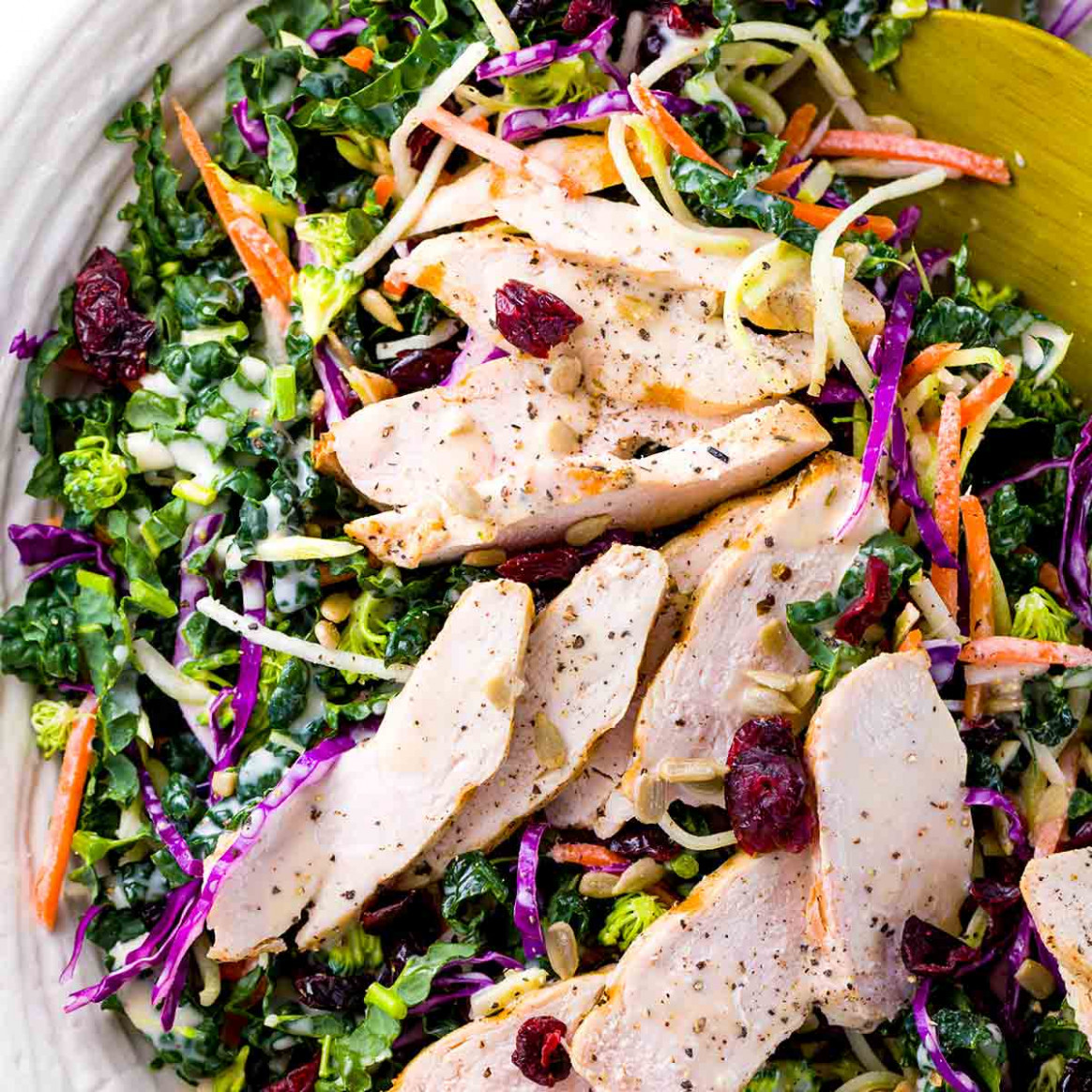 Broccoli Slaw with Chicken - recipes kale and chicken