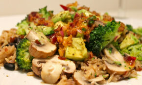 Brown And Red Rice With Avocado, Black Beans And Broccoli – Recipes Beans And Rice Vegetarian
