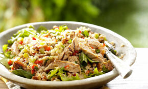 Brown Rice Salad With Grilled Chicken – Healthy Chicken And Rice Recipes