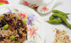 Brown Rice With Dace Fish And Edamame ( 美味豆豉鯪魚糙米饭 ) – Healthy Recipes Asian