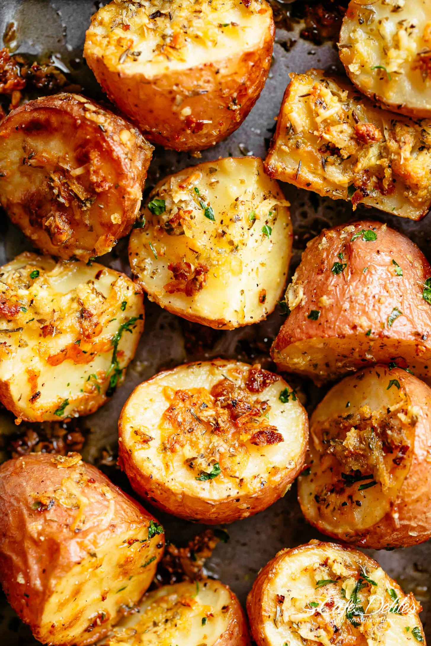 Browned Butter Parmesan Roasted Potatoes - Cafe Delites - Oven Baked Potato Recipes Dinner