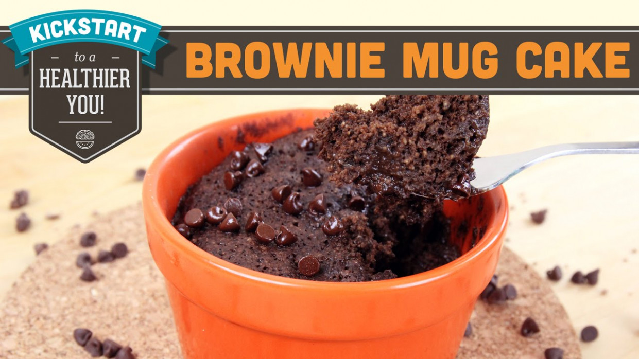 Brownie Mug Cake One Minute Microwave Healthy Recipe Gluten Free - healthy recipes microwave