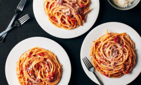 Bucatini All'Amatriciana – Italian Food Recipes With Pictures