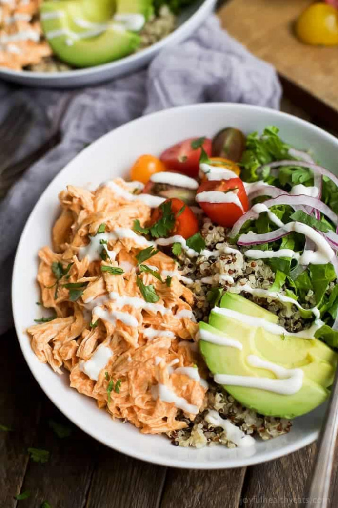 Buffalo Chicken Quinoa Bowls | Easy Healthy Recipes Using ..