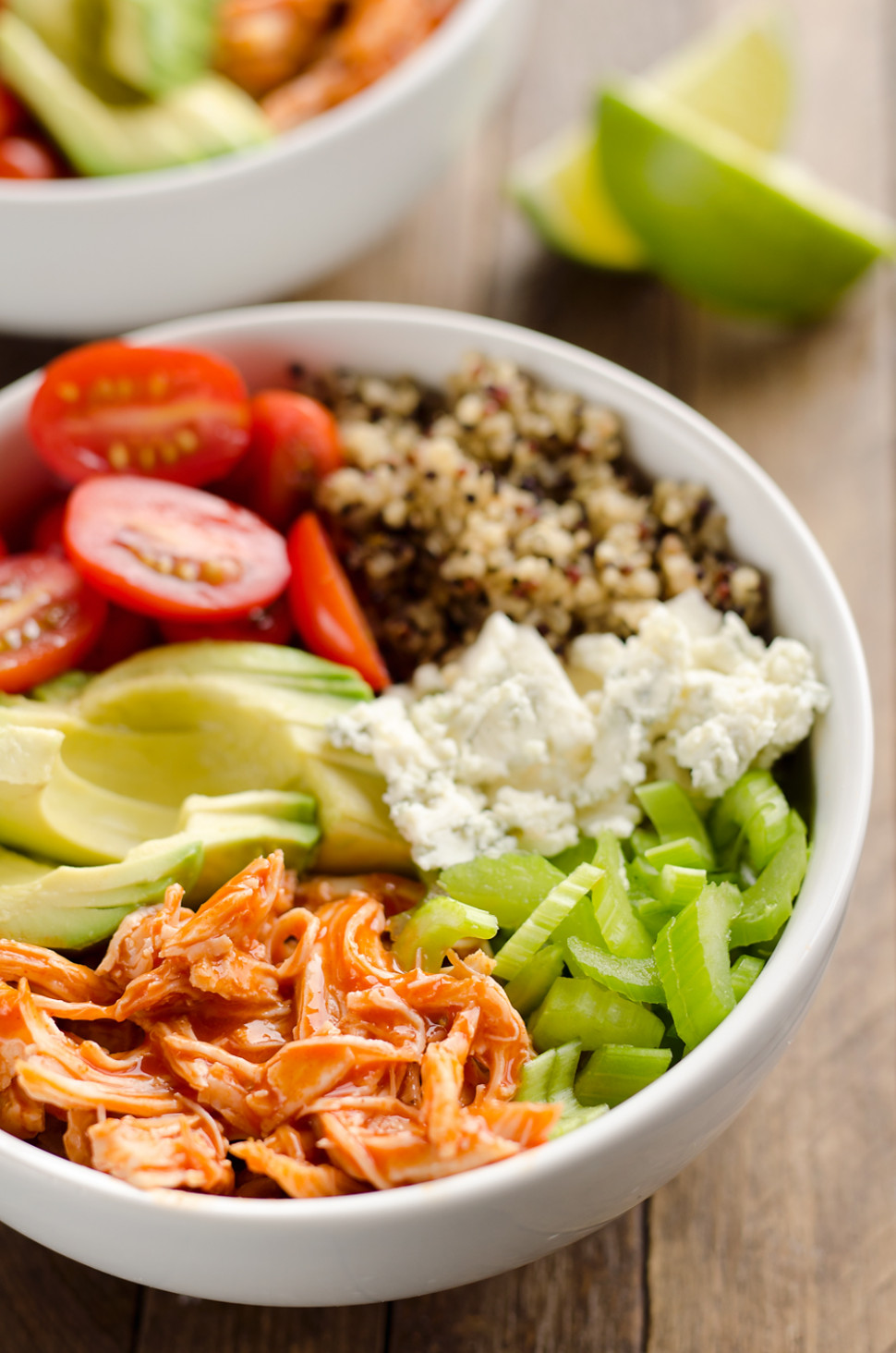Buffalo Chicken & Quinoa Veggie Bowls - Quinoa Recipes Dinner