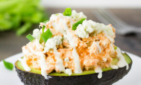 Buffalo Chicken Salad Stuffed Avocado – Avocado Recipes Chicken