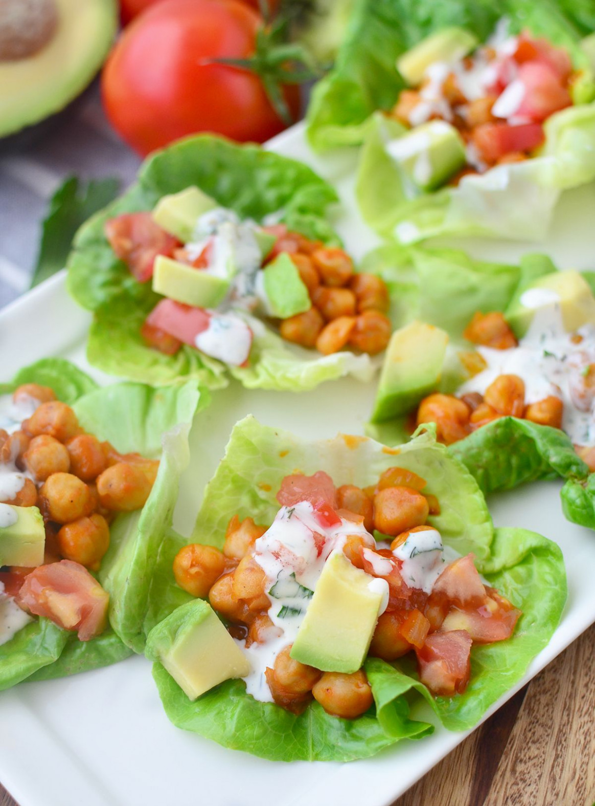Buffalo Chickpea Lettuce Wraps! You are going to love ..