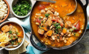 Buffalo White Bean Chili With Vegetarian Sausage Recipe By ..