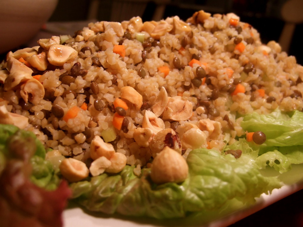Bulgar And Lentil Salad - Healthy Recipes For One