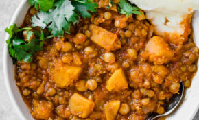 Butternut Squash, Chickpea & Lentil Moroccan Stew ..