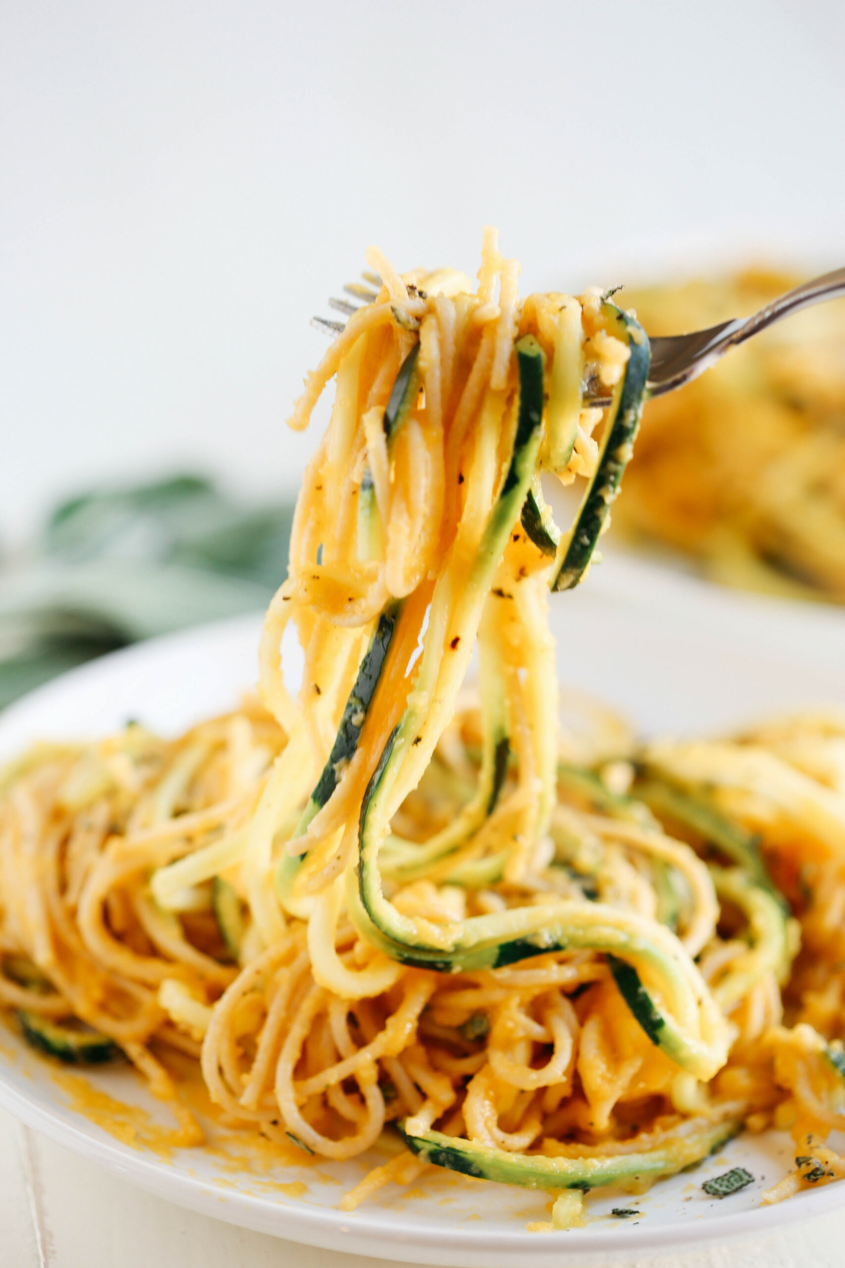 Butternut Squash & Sage Spaghetti With Zucchini Noodles - Healthy Noodle Recipes