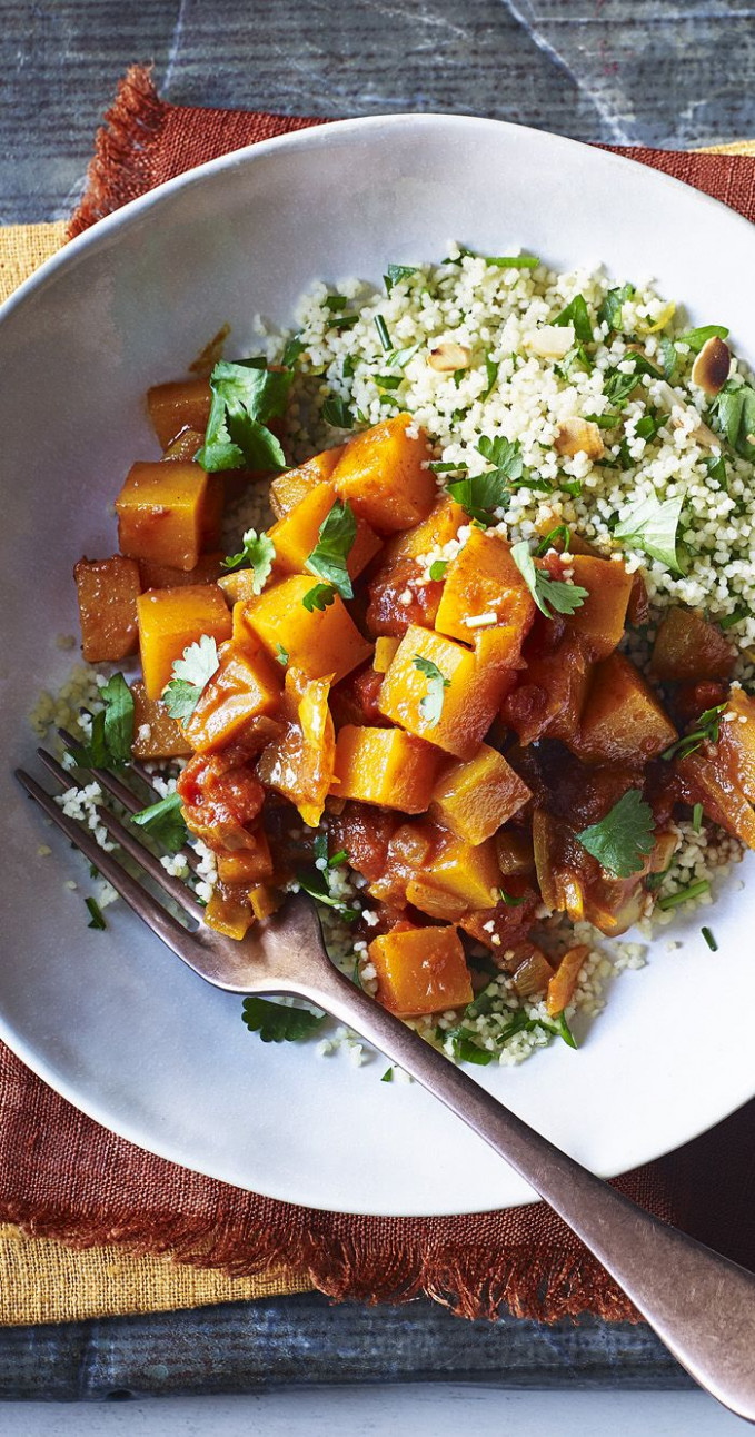 Butternut squash tagine with couscous - recipes vegetarian tagine